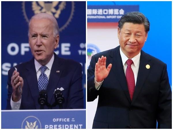 Joe Biden (lef) and Xi Jinping (right)