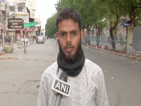 Mohammad Aqeel, Hyderabad based food delivery executive. (Photo/ANI)