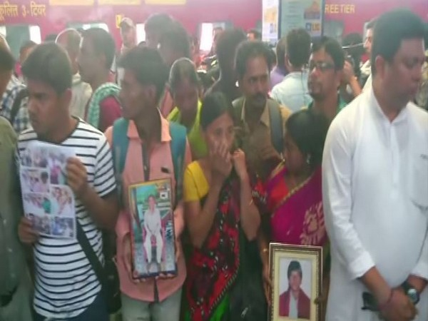 Fifty-four family members of BJP workers killed in poll violence in West Bengal reached Delhi on Thursday. (Photo/ANI)