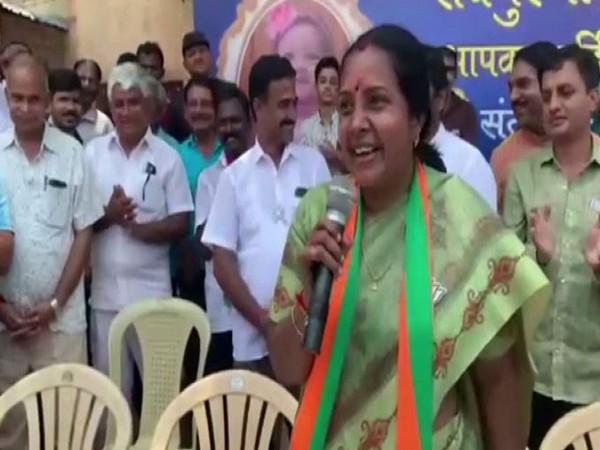 BJP candidate from Coimbatore South constituency Vanathi Srinivasan. (Photo/ANI)