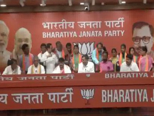 Several TMC leaders joined BJP in New Delhi on Monday. Photo/ANI