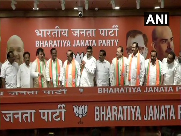 Three TDP and two Congress leaders on Thursday joined BJP in New Delhi.