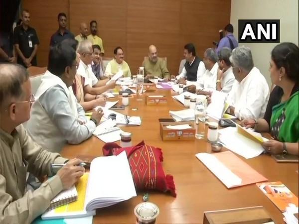 Maharashtra BJP Core Group meeting underway at New Delhi on Thursday.