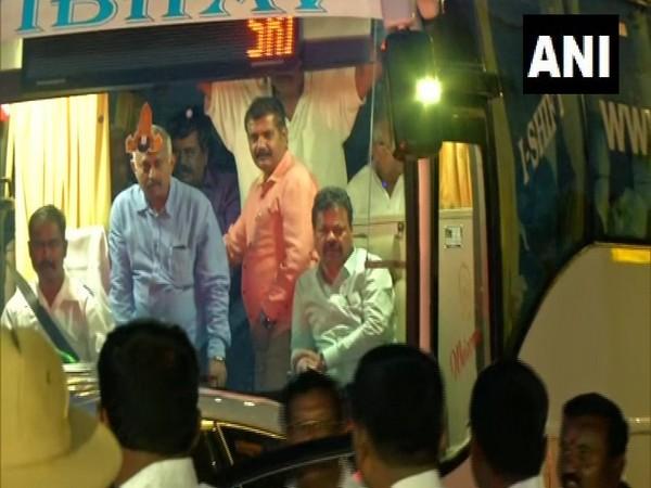 BJP MLAs reached Ramada resort in Bengaluru on Friday evening.