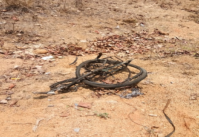 IED explosion in Rajnandgaon, Chhattisgarh on Thursday Photo/ANI.