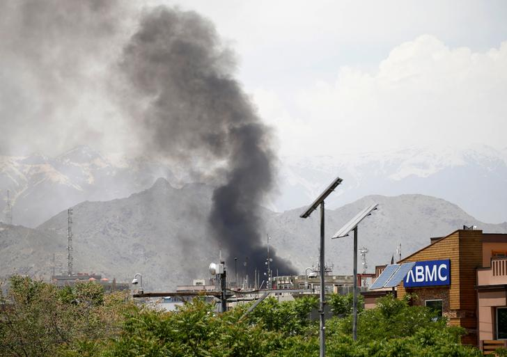 Visuals from the site of Wednesday's attack in Kabul (Photo/ Reuters)