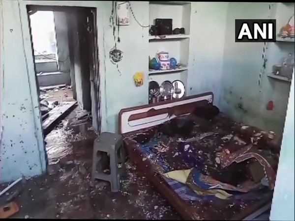 The explosion site. Photo/ANI