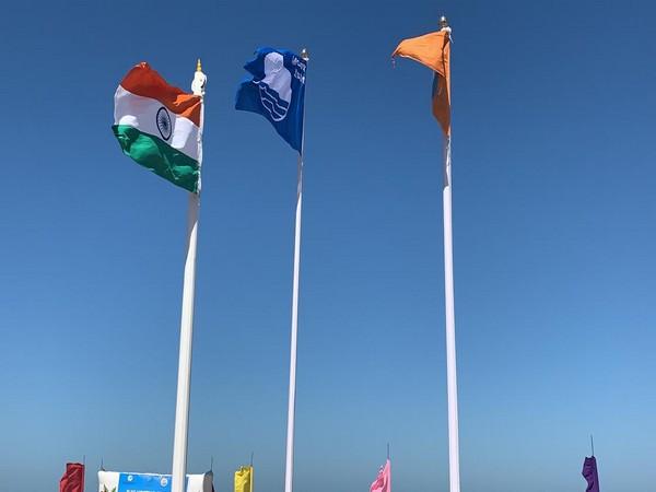 Blue Flag hoisted by Prakash Javadekar via video conferencing on Monday. (Photo/ANI)
