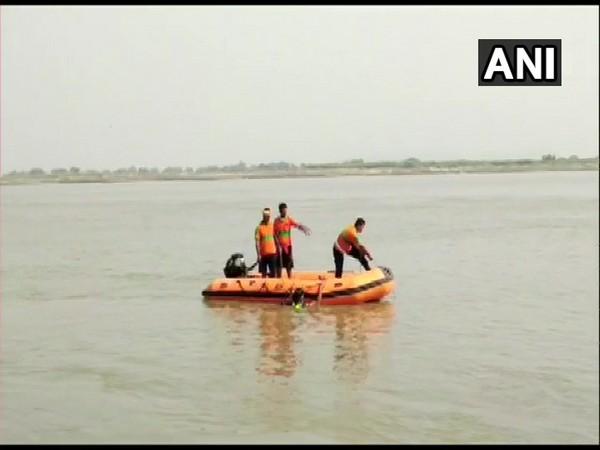 Rescue operation underway in the Naugachhia area of Bhagalpur. (Photo/ANI)