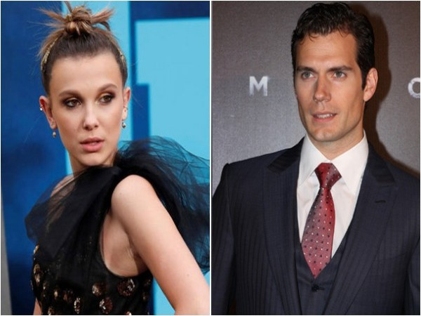 Millie Bobby Brown and Henry Cavill