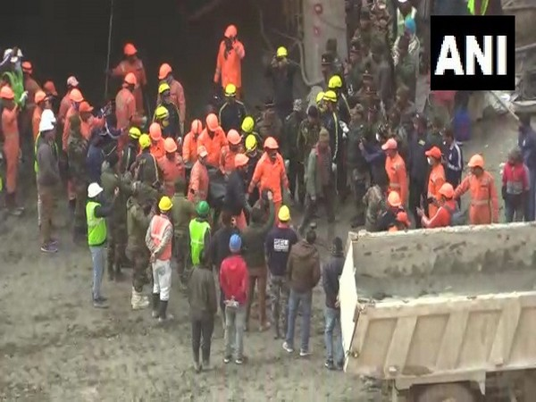 Dead bodies recovered from Tapovan Tunnel on Sunday.