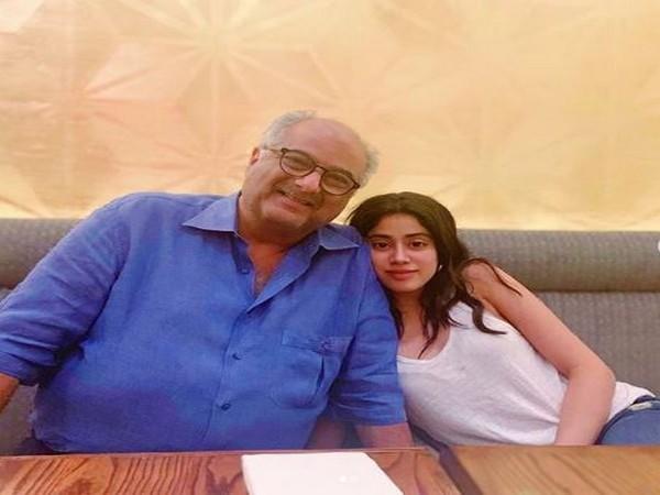 Boney and Janhvi Kapoor (Image courtesy: Instagram)