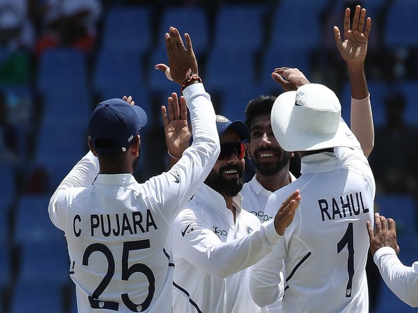 Pacer Jasprit Bumrah's fifer helps India to win the first Test of the two-match series against West Indies by 318 runs. (Photo/BCCI Twitter)