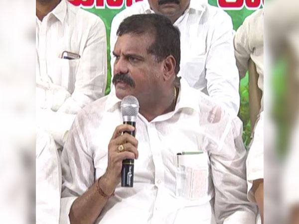 Minister for Municipal Administration Botsa Satyanarayana speaks to ANI in Amaravati on Tuesday. [Photo/ANI]