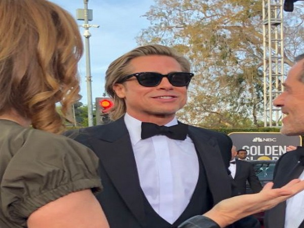 Actor Brad Pitt at the red carpet of the Golden Globe Award ceremony (Image Source: Twitter)