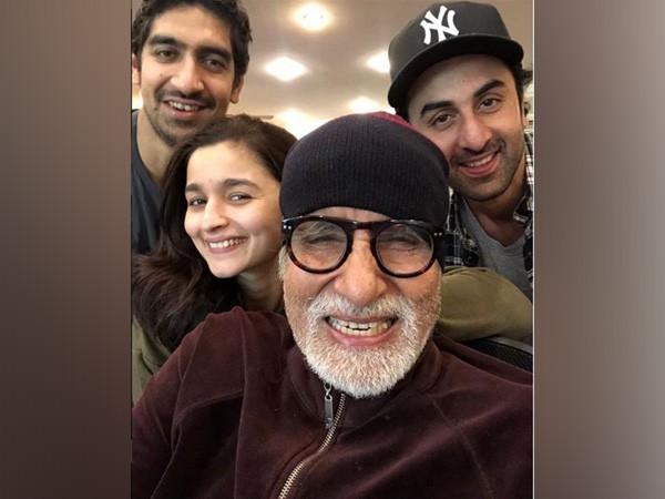 The team of Brahmastra, Ayan Mukerji, Alia Bhatt, Amitabh Bachchan and Ranbir Kapoor, Image courtesy: Instagram