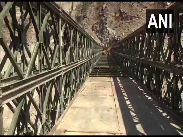 200-ft bailey bridge built in place of the 90m-long bridge in Raini Village (Photo/ANI)