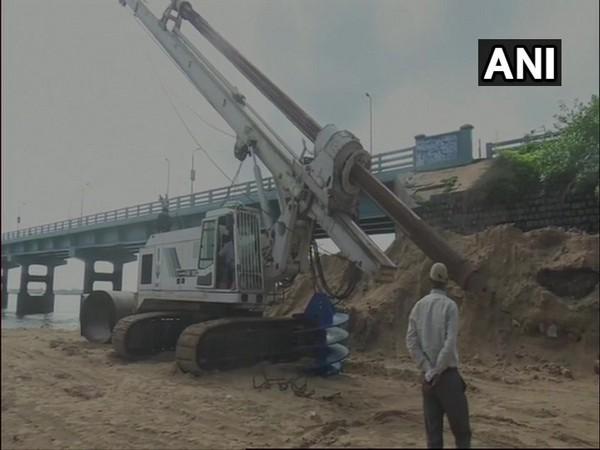 Work on new Pamban Rail Bridge began on Friday. Photo/ANI