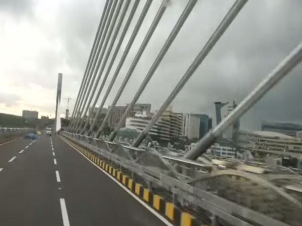 The bridge is expected to ease traffic flow in Hyderabad. (Photo: ANI)