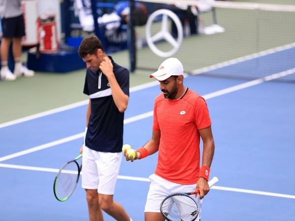 Rohan Bopanna and Denis Shapovalov. (Photo/Divij Sharan Twitter)