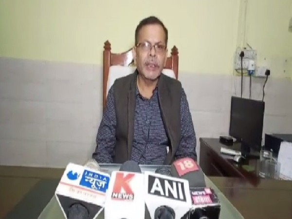 Basic Shiksha Adhikari, Pradeep Kumar Pandey speaking to media in Unnao, Uttar Pradesh.