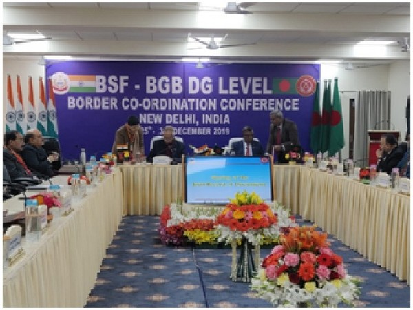 A visual from BSF-BGB DG level conference in New Delhi.