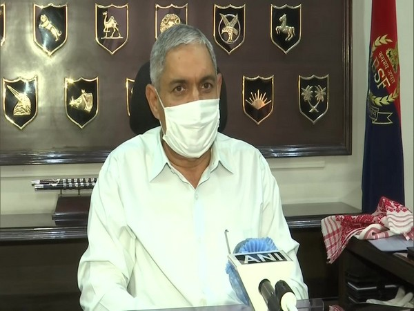 Border Security Force (BSF) Director General SS Deswal speaking to ANI on Wednesday