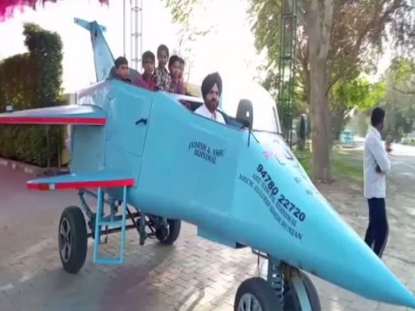 'Punjab Rafale'  a jet-shaped vehicle that runs at 20 kmph