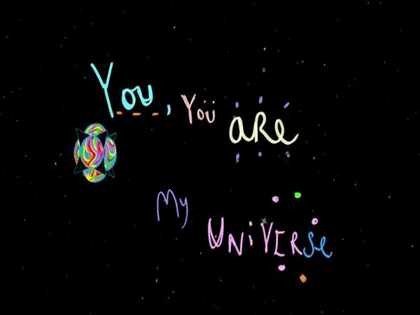 Still from the 'Coldplay X BTS - My Universe' official lyric video (Image source: YouTube)