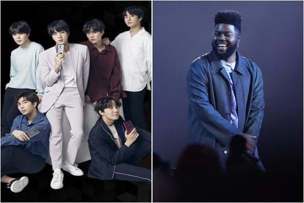 K-Pop band BTS and Khalid