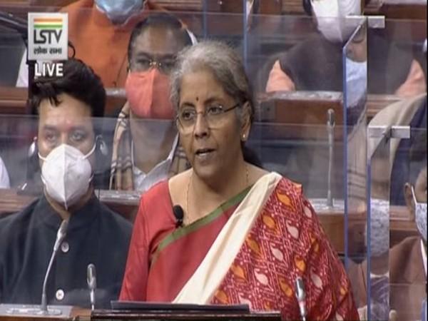 Finance Minister Nirmala Sitharaman during Budget speech on Monday.