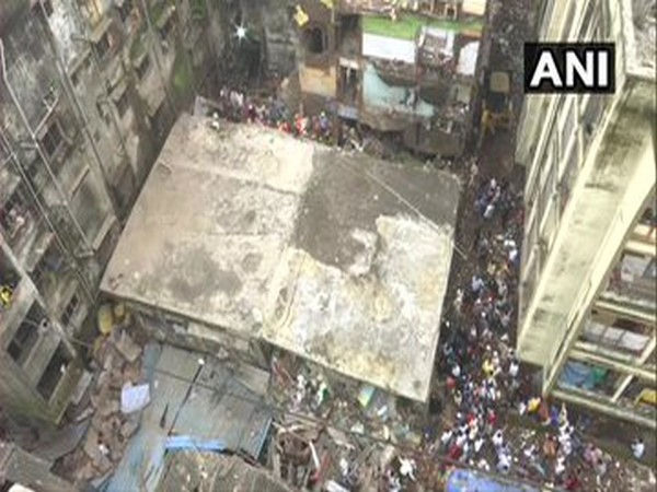 A visual of the building collapse site. [Photo/ANI]