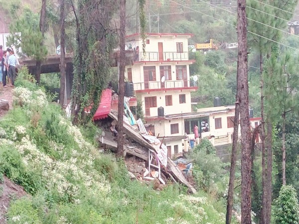 Visual from building collapse site at Kumarhatti in Solan, HP on Sunday