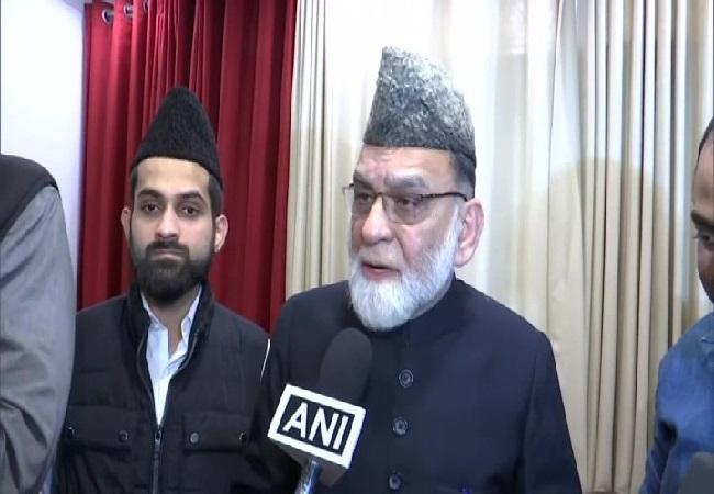 Shahi Imam of Delhi's Jama Masjid Syed Ahmed Bukhari speaking to ANI on Saturday on Saturday. Photo/ANI