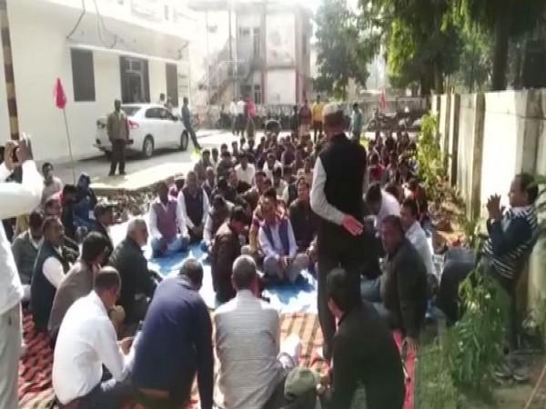 A visual of protest in Bulandshahr, Uttar Pradesh.