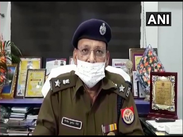 Bulandshahr Senior Superintendent of Police Santosh Kumar Singh speaking to ANI. (Photo/ANI)