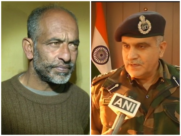 Parvez Ahmed (l) who has been arrested by Samba Police and SSP Shakti Phatak (Photo/ANI)