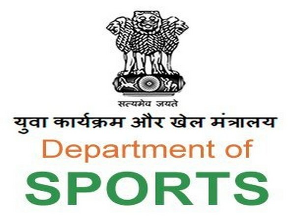 Ministry of  Youth Affairs and Sports logo.