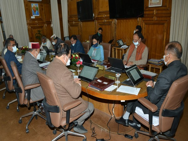 Visual from the Cabinet meeting. Photo/ANI