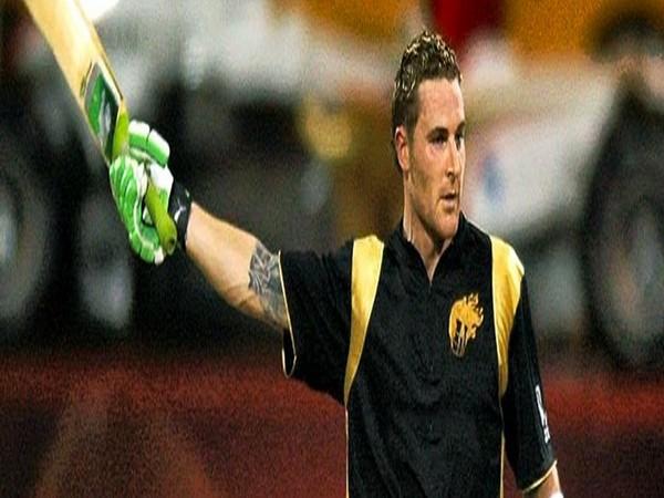 Former New Zealand skipper Brendon McCullum during 2008 IPL game (Photo/ KKR Twitter)