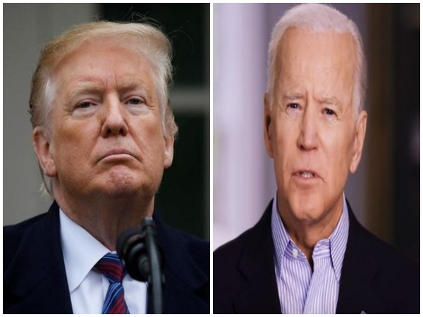 US President Donald Trump (L) and Democratic presidential candidate Joe Biden (R)