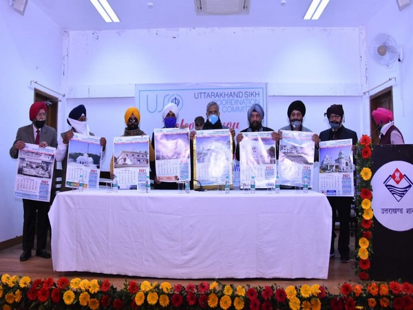 CM Trivendra Singh Rawat released the 2021 calendar of the Uttarakhand Sikh Coordination Committee (Photo/ANI)