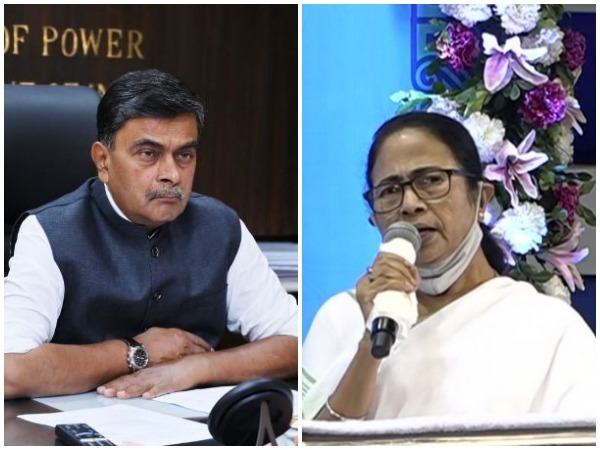 Union Power Minister RK Singh(L), West Bengal Chief Minister Mamata Banerjee (R)