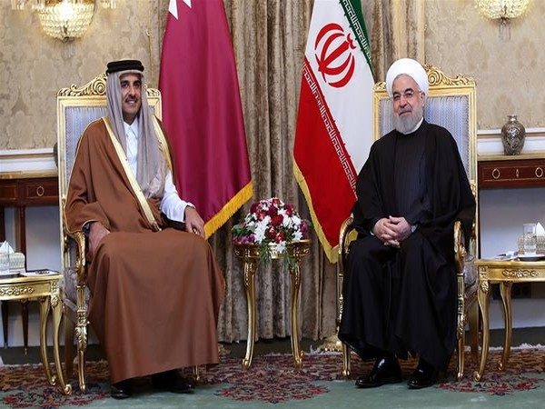 Sheikh Tamim held talks with Iranian President Hassan Rouhani in Tehran on Sunday (Photo/Reuters)
