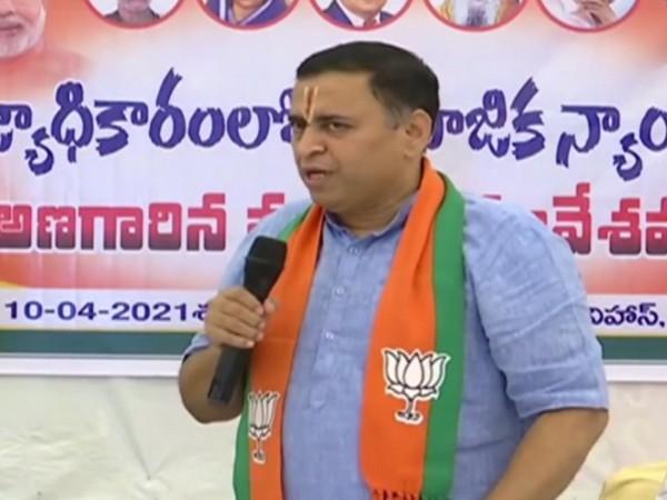 Bharatiya Janata Party (BJP) co-Incharge in Andhra Pradesh Sunil Dheodhar. (Photo/ANI)