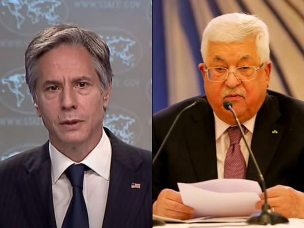 US Secretary of State Antony Blinken and Palestinian President Mahmoud Abbas.