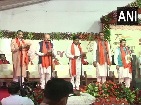 Visual from the swearing in ceremony. (Photo/ ANI)