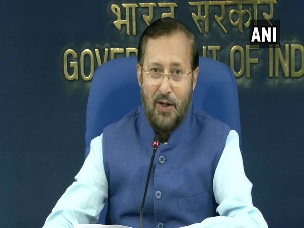 Information and Broadcasting Minister Prakash Javadekar addressing the media at Shastri Bhawan in New Delhi on Wednesday. [Photo/ANI]
