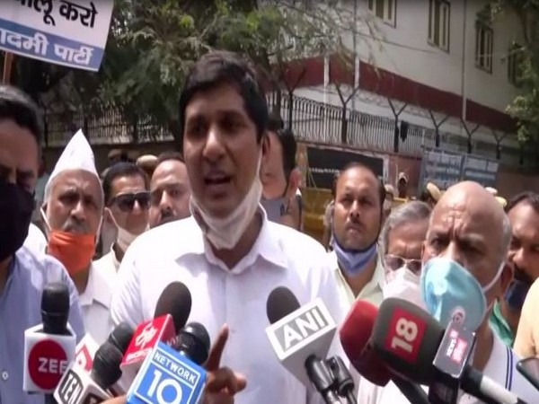 AAP leader Saurabh Bharadwaj speaking to media. (Photo/ANI)