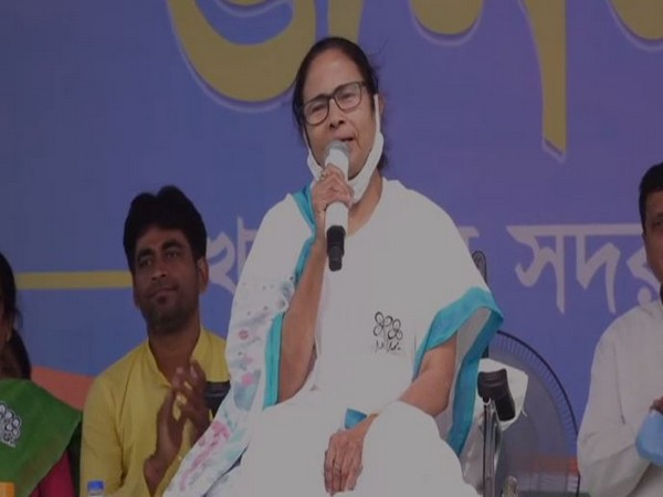 West Bengal CM Mamata Banerjee speaking in Kharagpur on Saturday.